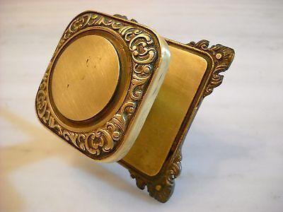 Vintage Greece solid brass large door knob handle D8 2