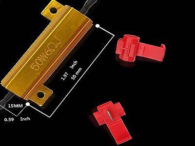 10x 50W 6 ohm Load Resistor Fix LED Bulb Fast Hyper Flash Turn Signal Blink 2