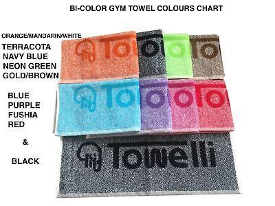 Bi-Color, TOWELLI Sports Gym Towel, 100%Cotton Jacquard, with New Colours 3
