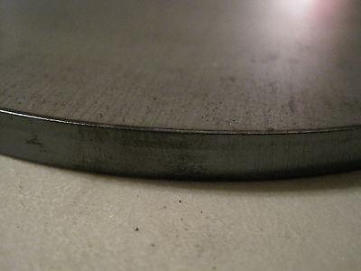 """Disc Shaped .375 3//8/"""" Steel Plate 6/"""" Diameter 3//8/'/' A36 Steel"""