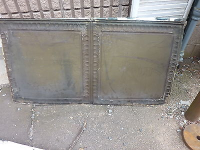 "GORGEOUS antique VICTORIAN tin ceiling TILE EGG & DART pattern 25"" x 48"" 6"