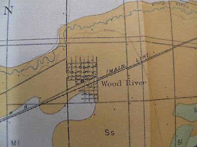 Color Soil Survey Map Grand Island Sheet Nebraska Shelton Wood River Abbott 1903 5