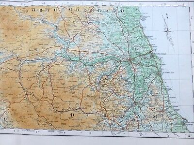 Vintage cloth OS MAP of SCOTLAND - DUMFRIESSHIRE, NORTHUMBERLAND - 1924, 3