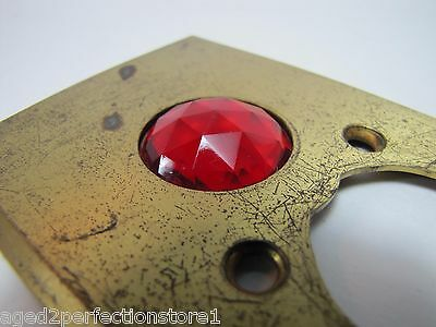 Antique Architectural Red Jeweled Glass Electrical Switch Cover Outlet Hardware 5