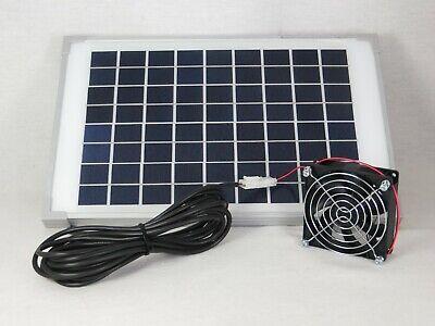 10W12V Solarlüfter Solar Lüfter Ventilator Solarventilator Gewächshaus Belüftung