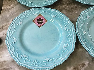 10 of 12 Indoor Outdoor Summer Collection Dinner Plates. Light Blue Melamine. New. & INDOOR OUTDOOR SUMMER Collection Dinner Plates. Light Blue Melamine ...