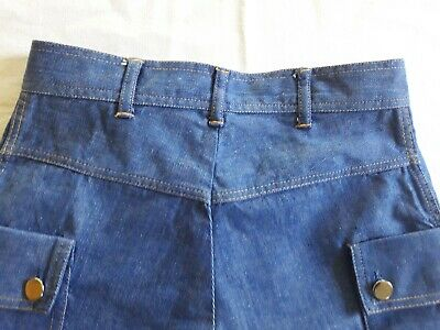 Short Bermuda jean chambray enfant 9a VINTAGE 70 CHILD DENIM BERMUDA SHORTS 9Y 4