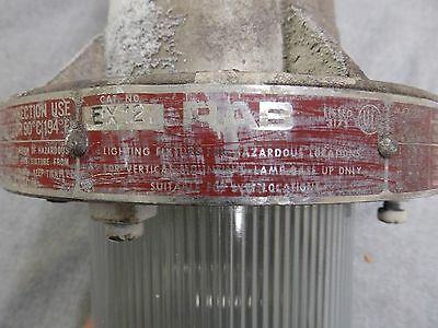 Vtg Industrial Sealed Hazardous Area Light Fixture Old Factory Steampuk 11-16 7