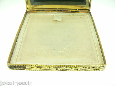 Vintage Italian Silver Enamel Painted Compact
