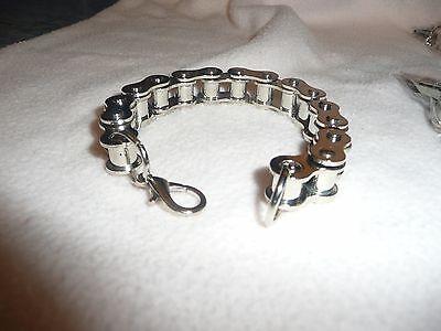 Wholesale Joblot 6 Mens Jewellery.large Steel Bike Chain Bracelets.gothic/biker