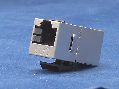 10 X pcs Lot CAT6 Shielded Inline RJ45 Keystone Wall Coupler Jack Adapter 8P8C E
