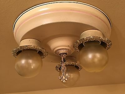 Vintage Lighting lovely 1920s bedroom fixture 3