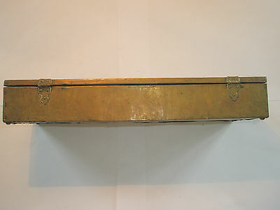 Vintage 1910 Apollo Studios NY Hammered Copper Arts & Crafts Wood Lined Desk Box 5