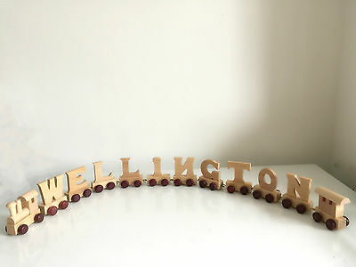 Personalised wooden name train : Use wooden letters to spell a personalised name 3