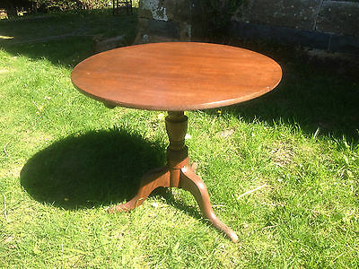Antique GEORGIAN GEORGE III Oak Snap Tilt Top Tripod Table c1780OccasionalDining 3