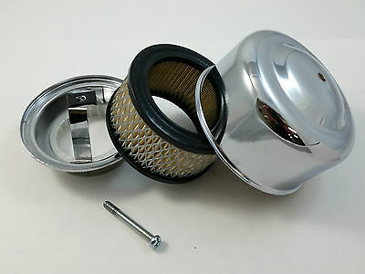 "3 Chrome Smooth 4 x 2  Air Cleaner Kit For 2-1//16/"" /& 2-5//8/"" Carburators Chevy"