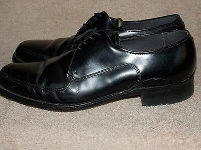aea1d2b6fe22f ... JC Penny Black Leather Vintage Plain Toe OX Shoes Men 8 D B Used 3