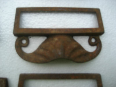 c1880 SET of 12 matching authentic VICTORIAN cabinet pull hardware 3.5 on holes 3