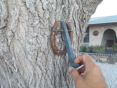 Horseshoe & Railroad Spike  Door Knocker 6