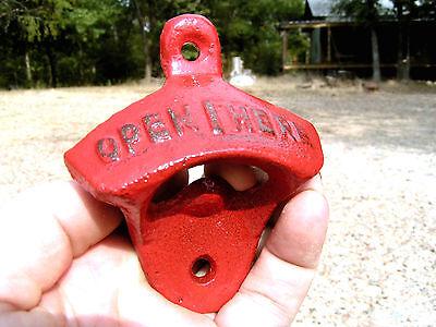 Ten Cast Iron Soda Pop Bottle Openers RED 6