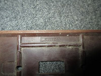 Vintage Bakelite Leviton Brown Switch Plate Cover Mcm 3