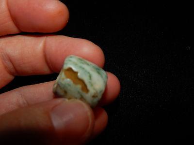 Pre-Columbian Jade Bead, Central America, Authentic, Rare 9