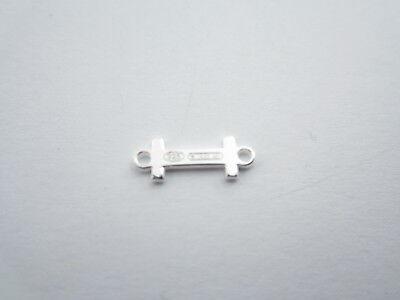 1 connettore 2 fori  lettera L in argento 925 made in italy misure 11 x 6 mm