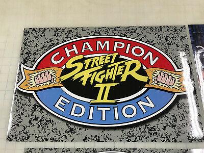 Arcade1up Cabinet Riser Graphics - Street Fighter 2 II Graphic Sticker Decal Set 8