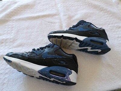 BASKET, NOIRBLEU , NIKE AIR , AIR MAX 90, Pointure 37,5 TBE