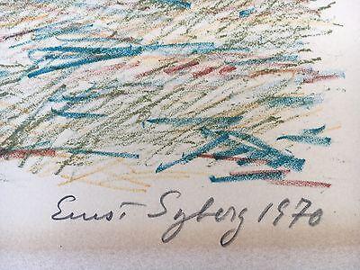 Ernst Syberg 1906-1981 Windiger Tag An Der Küste - Lithografie 1970 10