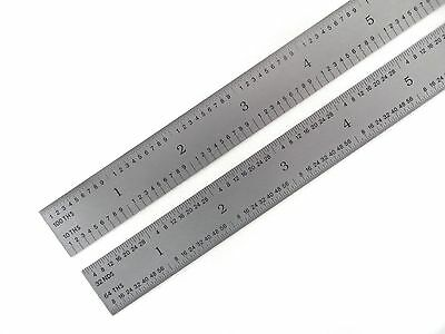 "Blem Cosmetic Second PEC 12"" Flexible Satin 5R 10/100/32/64ths machinist ruler 3"