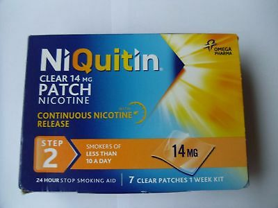 NIQUITIN CLEAR 7mg / 14mg / 21mg Patches X 7 (Choose Strength) 2