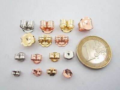 1 coppia farfalline argento 925 placcato oro rosè perni x orecchini 10, x 10 mm