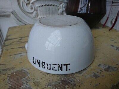 schwerer englischer antik Apotheker Salben Tiegel UNGUENT Porzellan 7