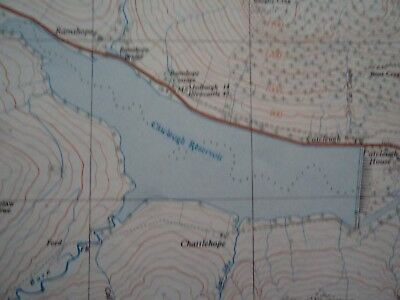 """Ordnance Survey 2.5"""" Map NT70 Catcleugh 1954 Leithope Forest Bryness Roman camps 2"""