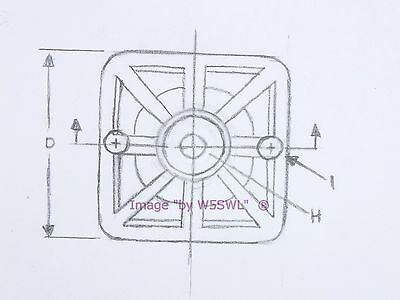 """Steel Bushing Set of 4 Sold by W5SWL Square Rubber Feet .875/"""" Tall"""