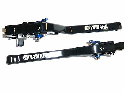 YAMAHA MT-09 TRACER BLACK BRAKE /& CLUTCH LEVERS SET RACE TRACK ENGRAVED R15E3