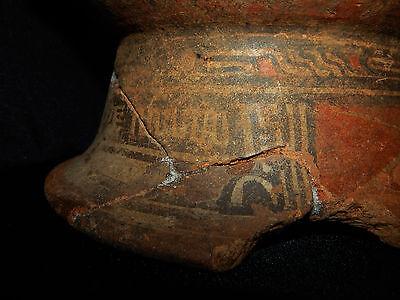 Pre-Columbian Pedestal Urn, Chimney Pot,Polychrome, Nicoya, Very Large 11