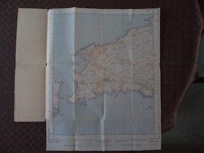"Ordnance Survey 2.5"" Map SM72 St Davids 1958 Tre-tio Ramsey Island, bit. 2"