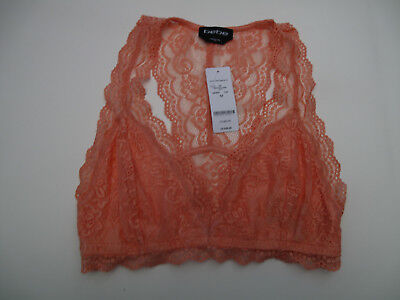 Bebe Coral Pink Lace T-Back Bralette NWT$29 ~M~Only One~ 6