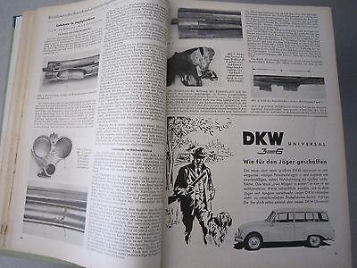 """""""Wild und Hund"""" kompletter 60. Jahrgang von April 1957 - März 1958,Hege,Pirsch 6"""