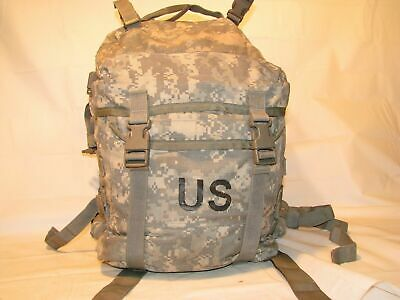 US ARMY ACU ASSAULT PACK 3 DAY MOLLE II BACKPACK w/ Stiffener VGC Made in USA 3
