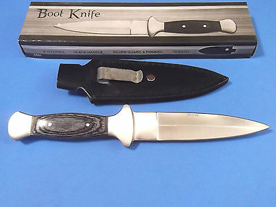 "Boot Knife 203288 Black wood dagger full tang knife 9 1/2"" overall PA3288 NEW! 3"