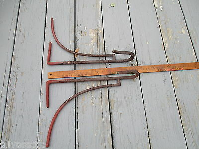 Antique 1800's  Equestrian Hand Forged Iron Tack Saddle Rack Horse 11
