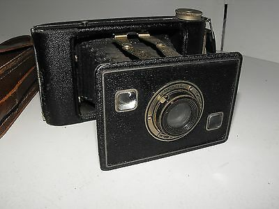 "Vintage Kodak Jiffy Strut Film Camera And Case ""In Good Vintage Condition"" 7"