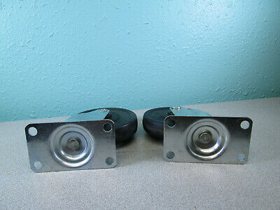 """2 - 4"""" Ballbearing Swivel Casters Pair With 4 Bolt Plate Hardware Light Duty 3"""