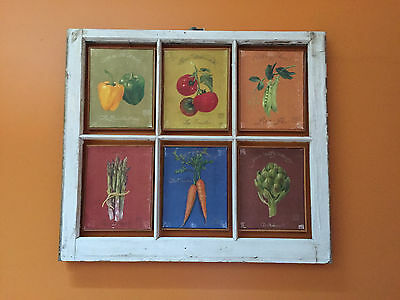 Vintage Sash Antique Wood Window Frame Pinterest 40X28 Black Gray Mirrors Rustic 5