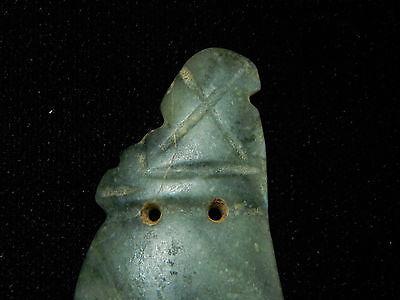 Pre-Columbian Avian Pendant, Rare Jade Pendant, Costa Rica, Authentic 3