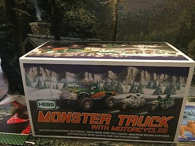 2007  HESS Monster truck Vehicle & Motorcycles , New In BOX, MINT