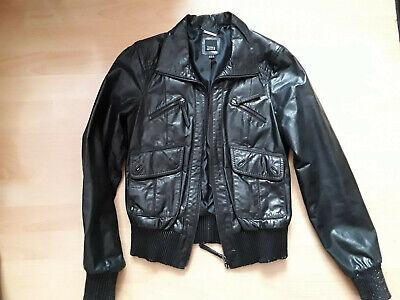 ECHTE DAMEN LEDERJACKE GR 36 schwarz von C&A Leder Jacke